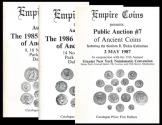 Ancient Coins - Empire Coins (Dennis Kroh). Lot of 3 Public Auction Catalogs (1985-1987).