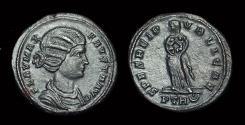 Ancient Coins - Fausta, Wife of Constantine. Æ Follis (3.78g). Trier mint.