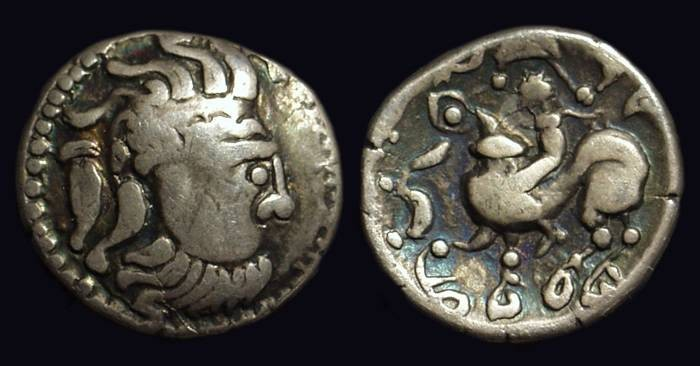 Ancient Coins - CELTIC, Danubian Region. Kapostaler Kleingold. AR Drachm (3.40g).