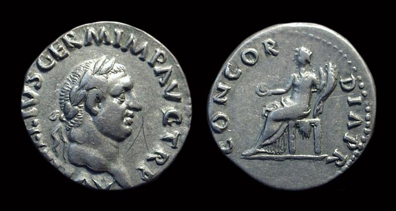 Ancient Coins - VITELLIUS, AD 69. AR Denarius (3.36g).