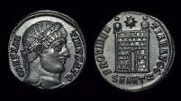 Ancient Coins - CONSTANTINE I, AD 307-337. Æ Follis (3.28g). Antioch mint.