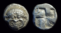 Ancient Coins - MACEDONIA, Neapolis. AR Stater (9.38g), c. 510-480 BC.
