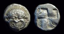 MACEDONIA, Neapolis. AR Stater (9.38g), c. 510-480 BC.