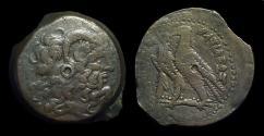 Ancient Coins - EGYPT, Ptolemy IV-V, 221-180 BC. Æ 37 (40.81g).  large horn variety   Ex: Gemini V