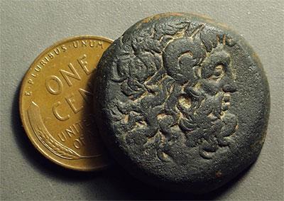 Egypt Ptolemy Vi Philometor 181 145 Bc æ 26 1657g Lotus Flower Issue