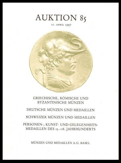 Ancient Coins - M&M 85. Munzen und Medaillen Auktion 85, 11 April 1997