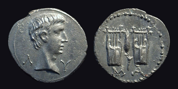 Ancient Coins - AUGUSTUS, 27 BC-AD 14. AR Drachm (3.29g) issued at Masicytus, Lycia.