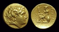 Ancient Coins - THRACE, Kings of. Lysimachos, 323-281 BC. AV Stater (8.51g). Rare lifetime issue.