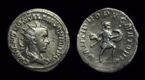 Ancient Coins - Hostilian as Caesar: AD 250-251. AR Antoninianus (3.43g).