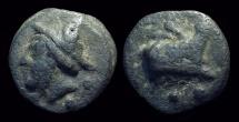 Ancient Coins - ROMAN REPUBLIC, Anonymous. Æ Aes Grave Sextans (38.92g).