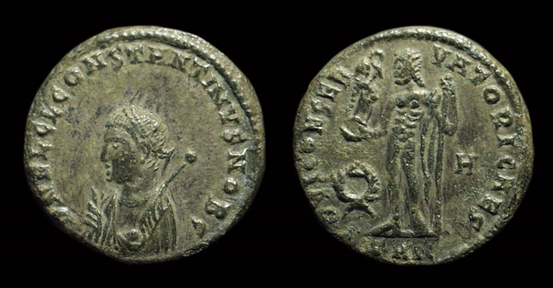 Ancient Coins - Constantine II as Caesar: AD 317-337. Æ 18 (3.15g).