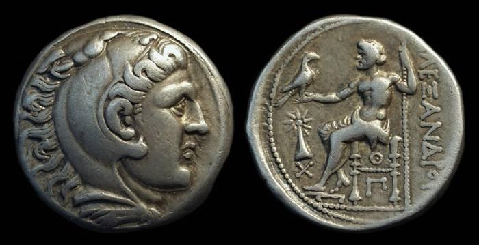 Ancient Coins - MACEDON, Kings of. Alexander the Great, 336-323 BC. AR Tetradrachm (16.93g) of Uranopolis mint.