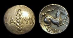 Ancient Coins - CELTIC BRITAIN, Trinovantes, Cunobeline, c. AD 8-41. AV Stater (5.46g). wild type