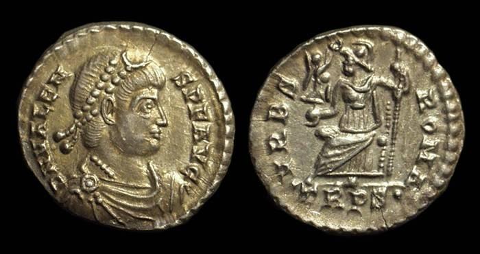 Ancient Coins - VALENS, AD 364-378. AR Siliqua (2.00g).