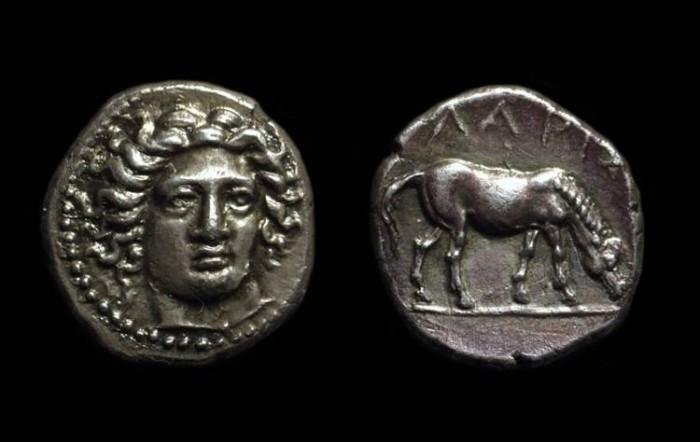 Ancient Coins - THESSALY, Larissa. AR Drachm (5.90g), c. 370-360 BC.