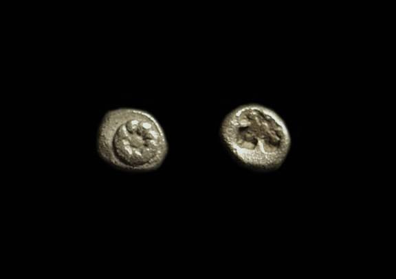 Ancient Coins - IONIA. Miletos. AR Hemitartemorion (4mm, 0.13g), c. 510-494 BC.