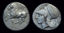 Ancient Coins - CORINTHIA, Corinth. AR Stater (8.58g), c. 375-300 BC.