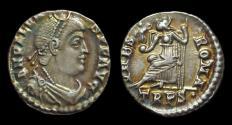 Ancient Coins - VALENS, AD 364-378. AR Siliqua (1.91g), Trier mint.