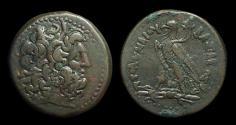 Ancient Coins - EGYPT, Ptolemy IV Philopater, 221-205 BC. Æ 30 (23.32g).