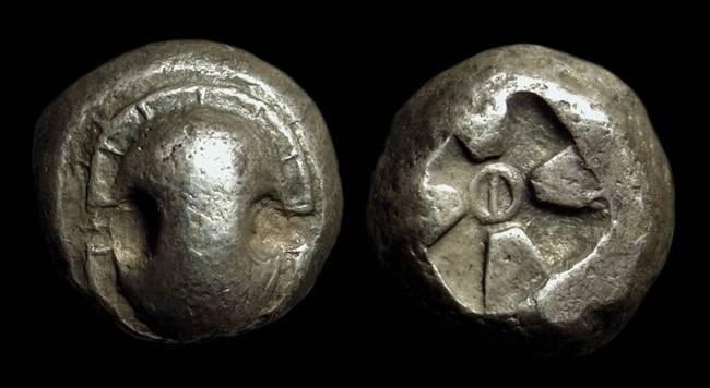 Ancient Coins - BOIOTIA, Pharai. AR Stater (12.33g), c. 475-450 BC.