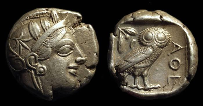 Ancient Coins - ATTICA, Athens. AR Tetradrachm (17.19g), c. 449-413 BC.