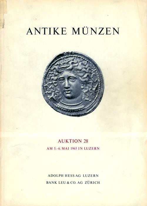 Ancient Coins - Hess-Leu Auktion 28: Antike Münzen, 5-6 May 1965.