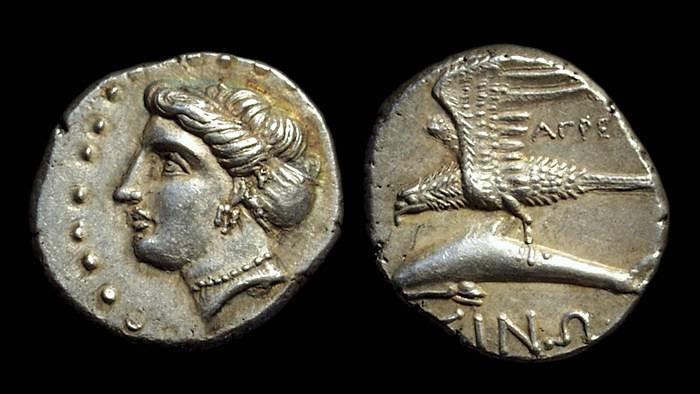 Ancient Coins - PAPHLAGONIA, Sinope. AR Drachm (5.03g), c. 410-350 BC.