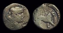 Ancient Coins - NUMIDIA. Juba I, 60-46 BC. Æ 22 (8.37g). Rare!