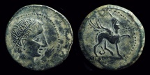 Ancient Coins - HISPANIA, Castulo (Jaen). Æ 28mm (15.94g), late 2nd c. BC.