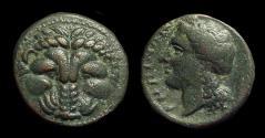 Ancient Coins - BRUTTIUM, Rhegion. Æ 20 (7.87g), c. 350-270 BC.