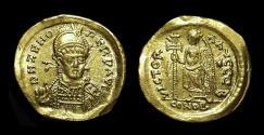 ZENO, Second Reign, AD 476-491. AV Solidus (4.45g).