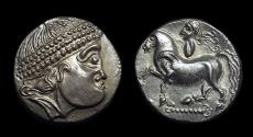 Ancient Coins - CELTIC, Eastern Europe. AR Tetradrachm (12.07g), 2nd c. BC. Kroisbach type.