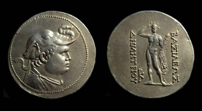 Ancient Coins - BAKTRIA, Kings of. Demetrios I, c. 200-185 BC. AR Tetradrachm (16.80g).