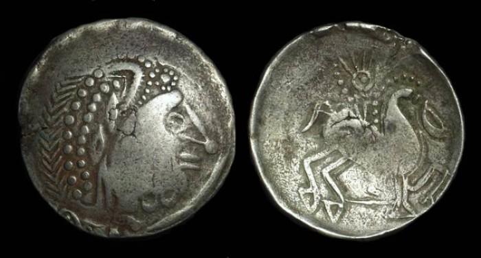 Ancient Coins - CELTIC, Transylvanian Alps. AR Tetradrachm (12.94g).