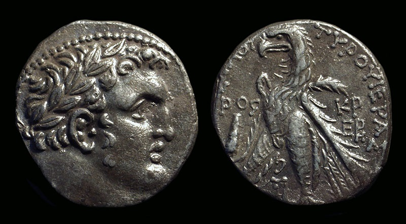 Ancient Coins - PHOENICIA, Tyre. AR Shekel (14.14g) dated Year 176 (AD 50/51).