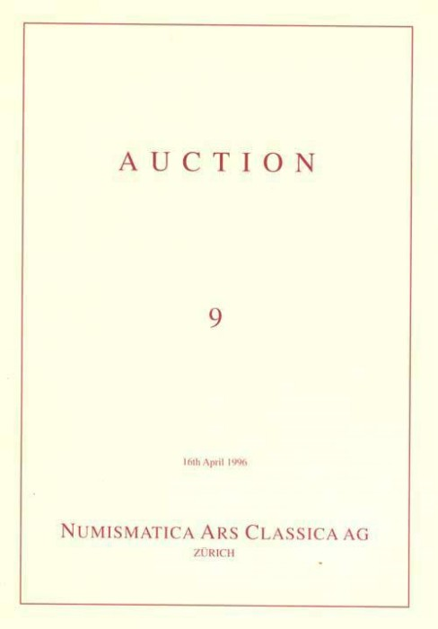 Ancient Coins - NAC. Numismatica Ars Classica (Zurich) Auction 9, 16 April 1996