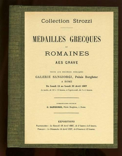 Ancient Coins - Sangiorgi (1907). Collection Strozzi: Medailles Grecques et Romaines, Aes Grave.