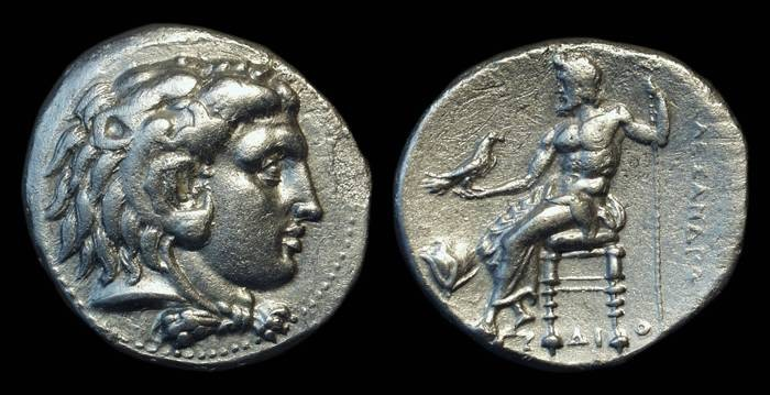 Ancient Coins - MACEDON, Kings of. Alexander the Great, 336-323 BC. AR Tetradrachm (15.56g) of Memphis mint.