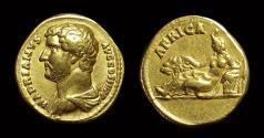 Hadrian, AD 117-138. Gold Aureus (7.12g). Travel Series: Africa.