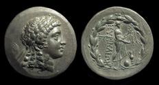 Ancient Coins - AIOLIS, Myrina. AR Tetradrachm (16.52g), c. 2nd Century BC.