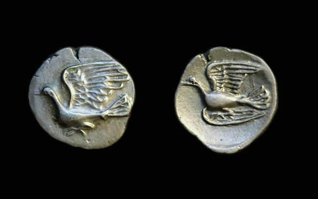Ancient Coins - SIKYONIA, Sikyon. AR Obol (0.82g), c. 360-330 BC.