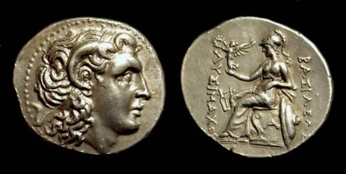 Ancient Coins - THRACE, Kings of. Lysimachos, 323-281 BC. AR Drachm (4.22g).