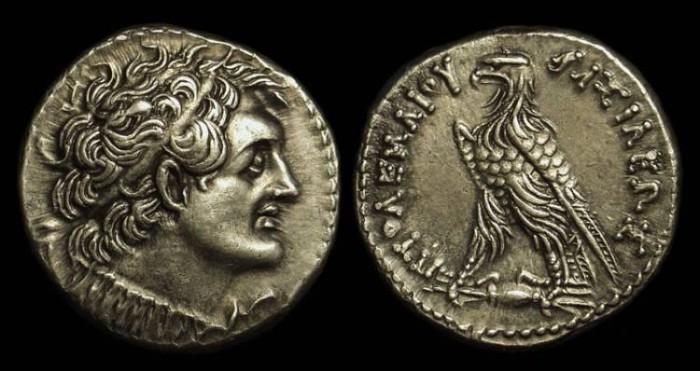 Ancient Coins - EGYPT. Ptolemy V Epiphanes, 205-180 BC. AR Tetradrachm (14.16g).