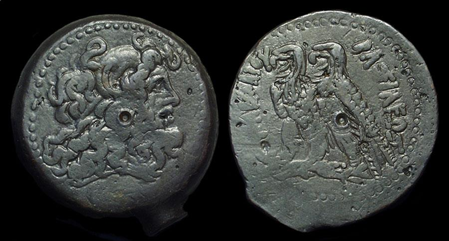 Ancient Coins - EGYPT, Ptolemy V Epiphanes, 205-180 BC. Æ 36 (36.86g). large horn II variety