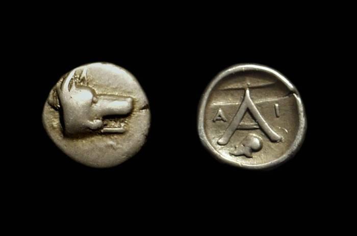 Ancient Coins - ARGOLIS, Argos. AR Obol (0.87g), c. 420-370 BC.