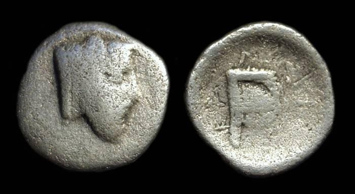 Ancient Coins - AKARNANIA, Federal Issue. AR Hemidrachm (1.94g), c. 400-350 BC.