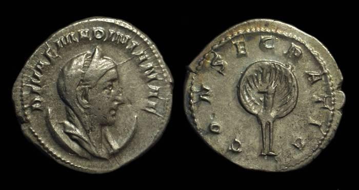 Ancient Coins - Mariniana, Wife of Valerian. AR Antoninianus (3.77g).