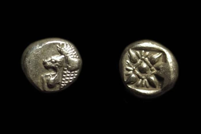 Ancient Coins - IONIA, Miletos. AR Twelfth-Stater (1.08g), c. 525-494 BC.