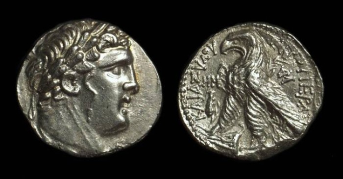 Ancient Coins - PHOENICIA, Tyre. AR Half-Shekel (7.12g), dated Year 48 (79/78 BC).