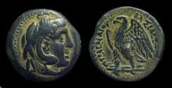 Ancient Coins - EGYPT, Ptolemy II Philadelphos, 285-246 BC. Æ 24 (12.08g). deified Alexander issue